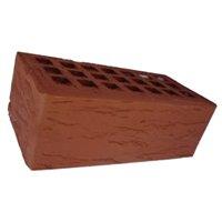 Кирпич красный Риф с фаской пустотелый с утолщ.стенкой 20 мм